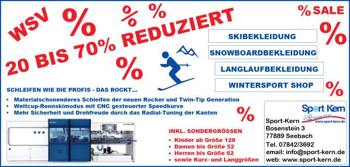Winterschlussverkauf bei Sport-Kern in Seebach! Kommt rauf die Preise gehen runter!
