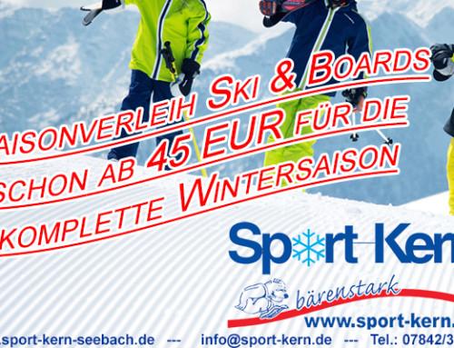 Saisonverleih Ski noch bis einschl. 11.12.2016