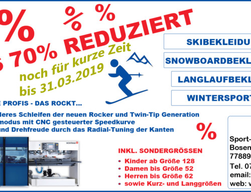 Winterschlussverkauf bei Sport-Kern in Seebach! Kommt rauf die Preise gehen runter! Noch für kurze Zeit!