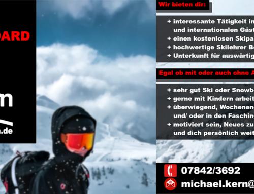 Ski-& Snowboardlehrer für die kommende Wintersaison 2019/20 gesucht!