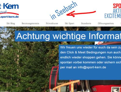 Sport-Kern hat geöffnet! Einkaufen ohne Test *freu*! Gerne beraten wir euch auch weiter per mail. Anfragen mit Bilderservice an info@sport-kern.de!